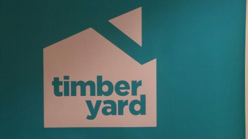 The Timberyard in Covent Garden only open two weeks and already exhibiting art