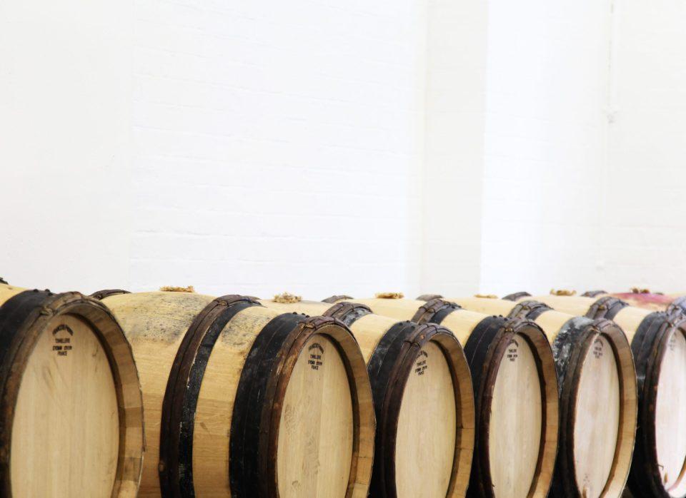 Barrels at London Cru