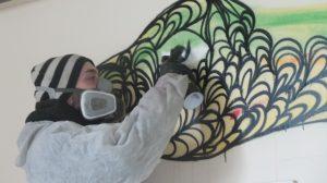 Kef painting in London