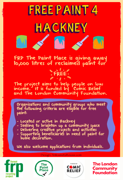 Free Paint for Hackney Flyer