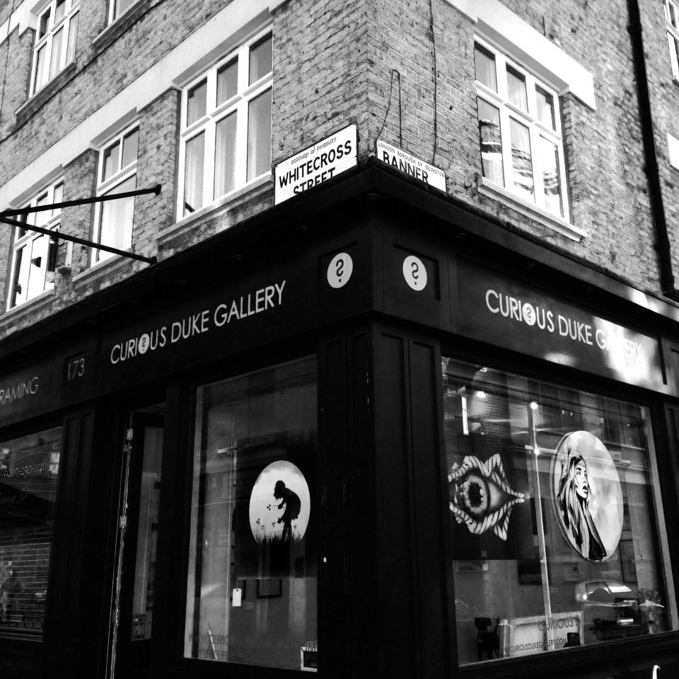 The Curious Duke Gallery in Whitecross Street courtesy of Eleni Duke