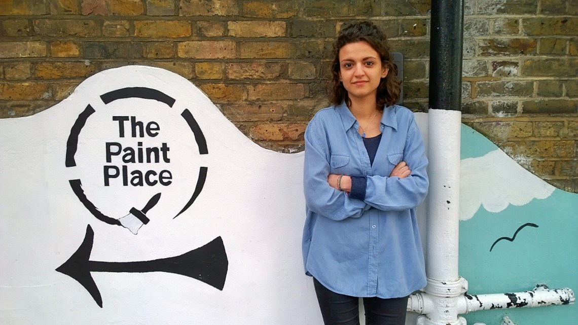 Toni Roussi outside the Paint Place on Bakers Avenue in Walthamstow