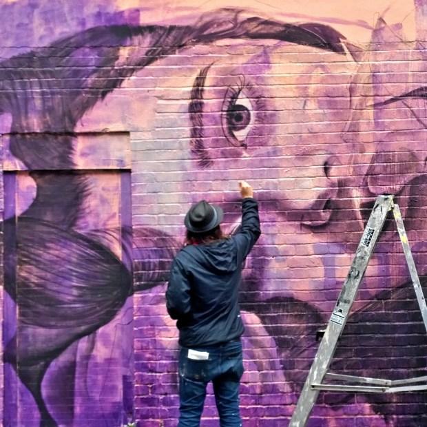 Rone painting on Hanbury Street