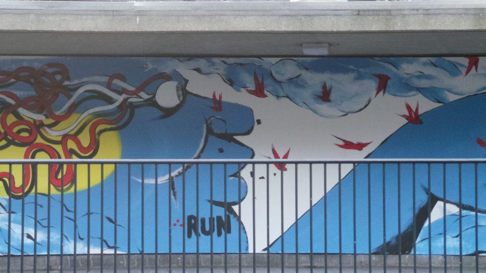 Blue man from Italian artist RUN