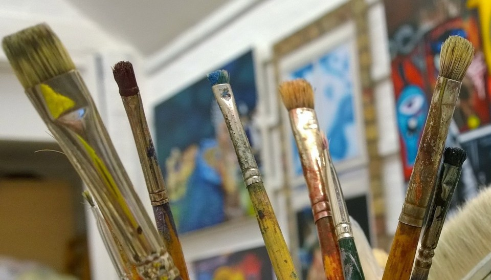 Andrea primarily paints with oils but also acrylic hers is a more traditional style she says