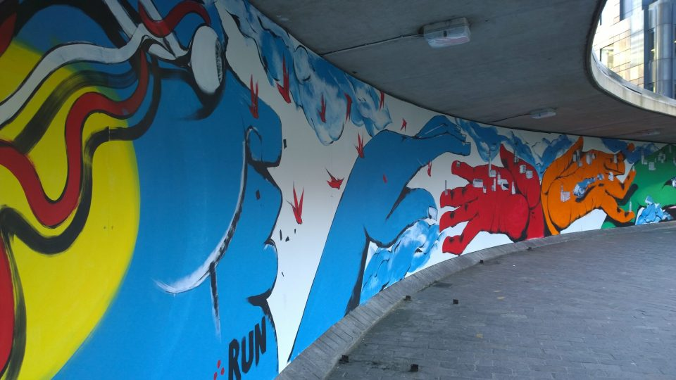 RUN's abstract characters have become hugely recognisable across London