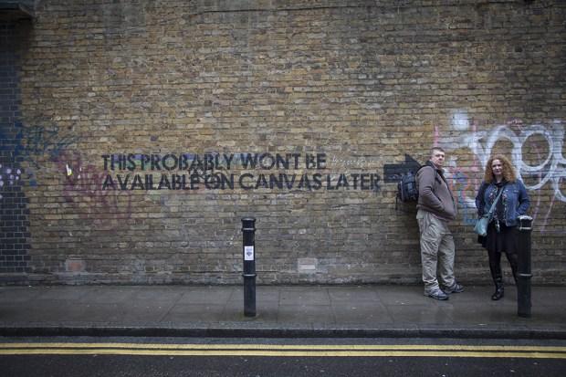 Mobstr Graffiti at the end of Hanbury Street