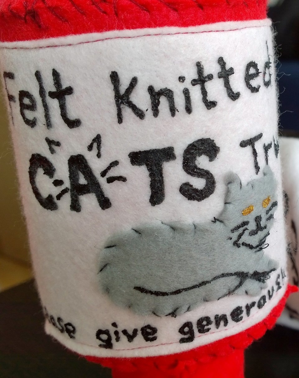 Felt Knitted Cats