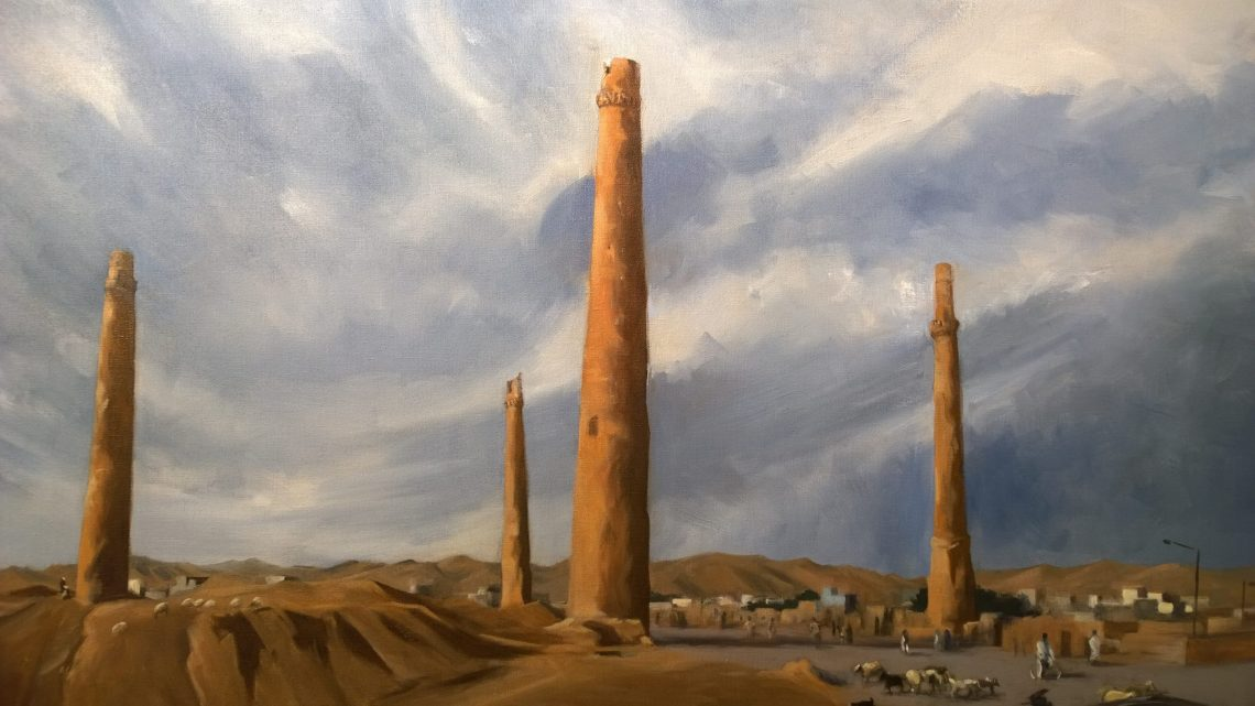 The Minarets of Herat painted by Arabella Dorman