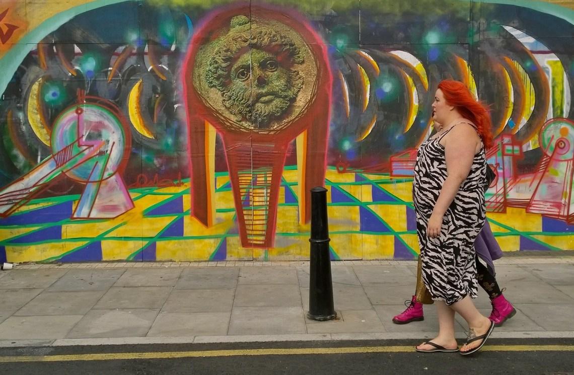 Woozy art in Hackney Wick