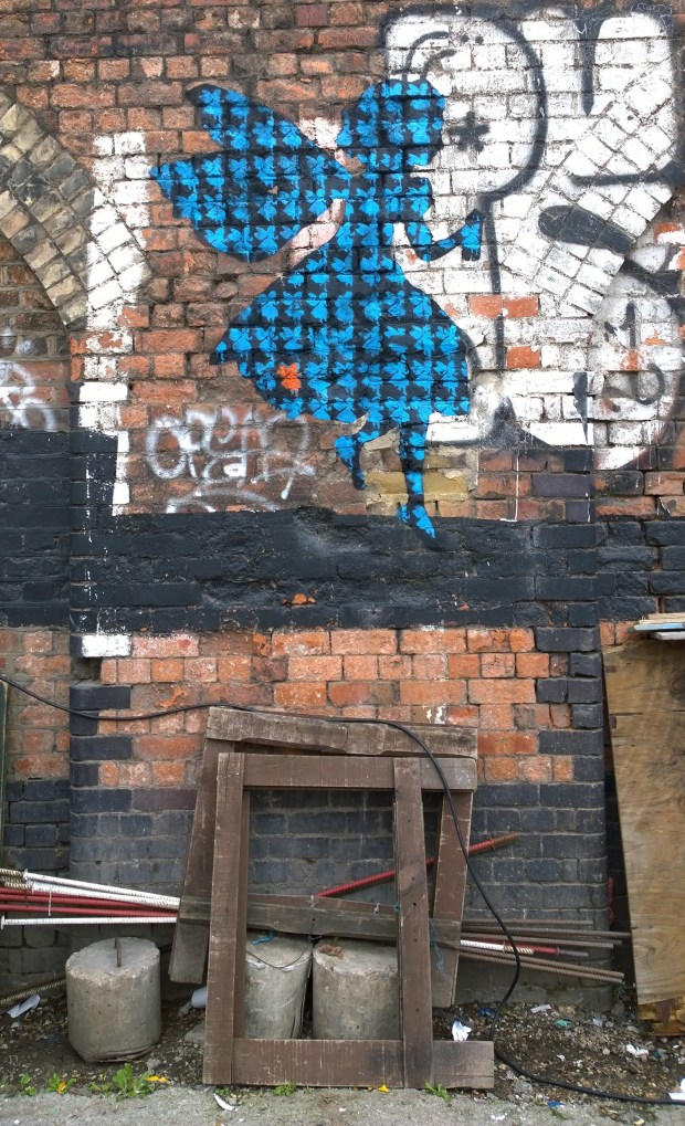 Ben Oakley street art, the fairy is the mascot of the Ben Oakley Gallery