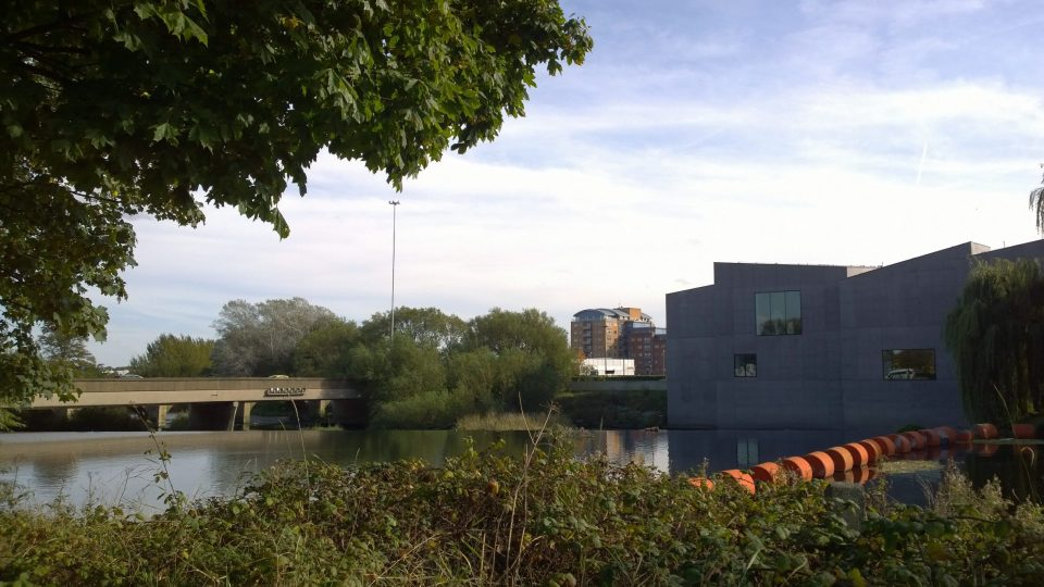 Hepworth Gallery seen through the trees