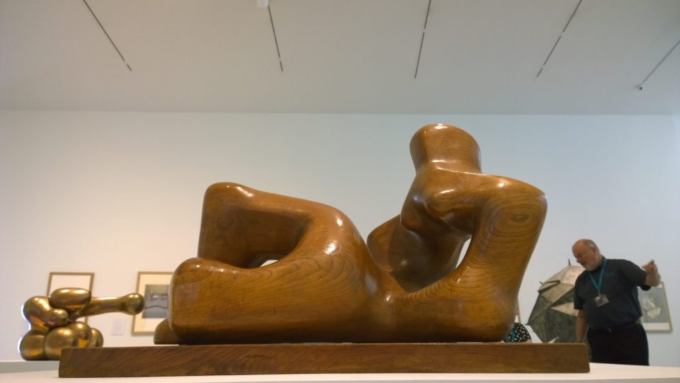 Henry Moore Reclining Figure in the Gallery