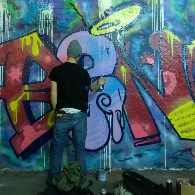 'Ben' by Itsa Disorder and Koby with Koby painting.