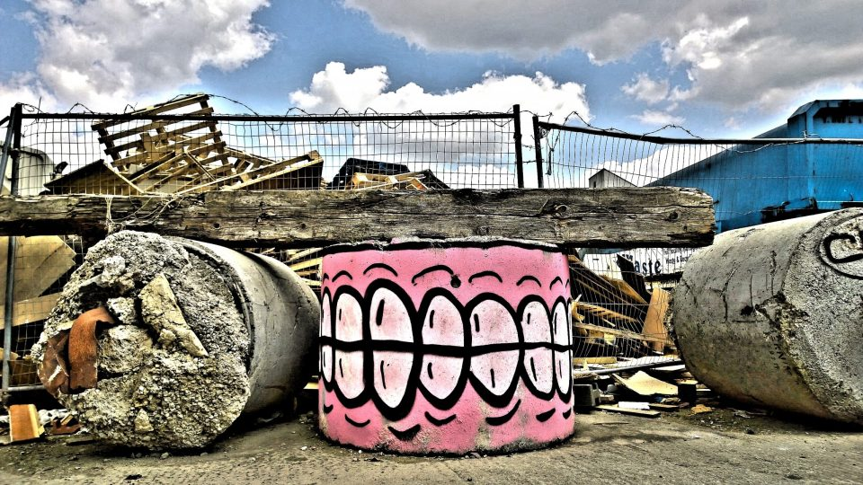 Sweet Toof is well known around the East end and was the first to discover this abandoned building