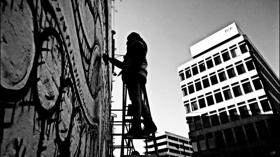 Painting the epic wall in silhouette