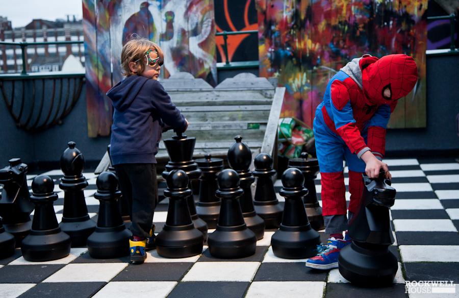 Chess set playtime