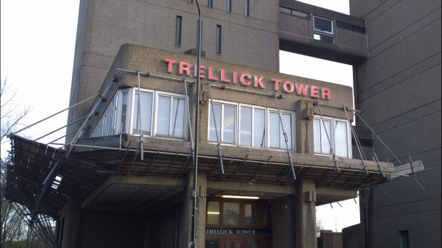 The entrance to the tower