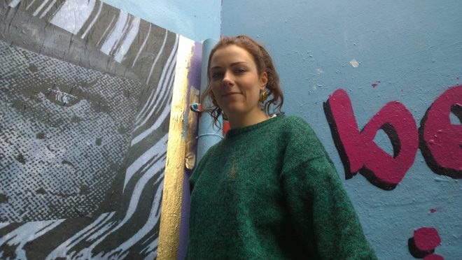 Emily Evans did a large scale paste up