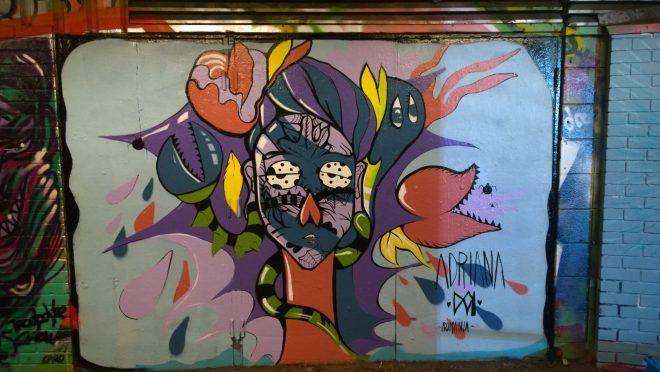 Adriana Doi's colourful piece