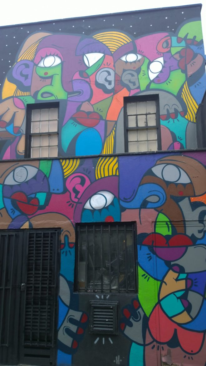 Italian artist Hunto has also gone big and his work covers the whole of this building