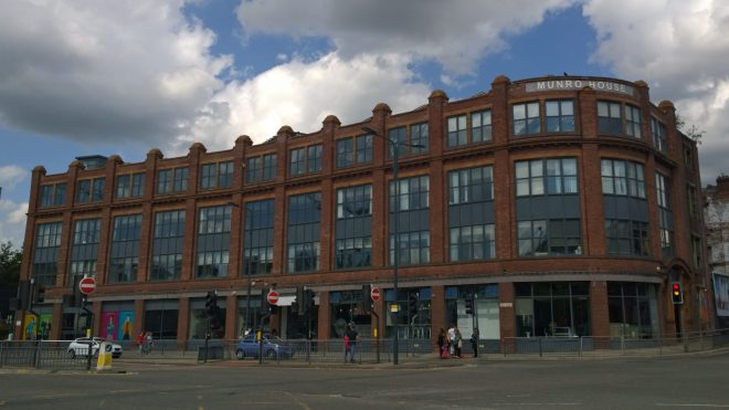 Munro House on Yorks Street in Leeds is a cultural centre and gallery space