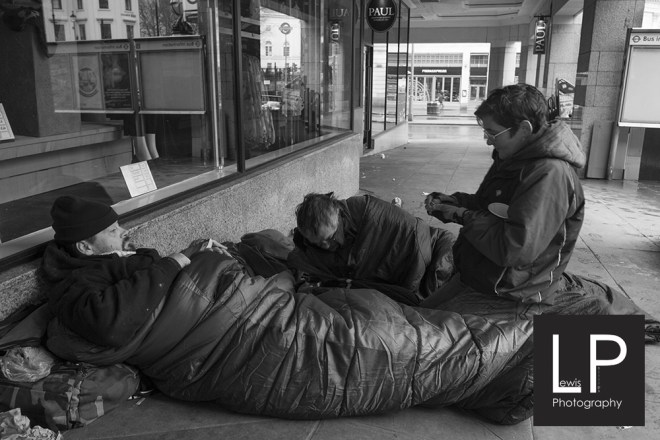 I was outside charring cross when i bumped into these guys just waking from another night on the street, I new the guys from previous encounters so they were very good with me. I got us some coffee and got some memorable interviews