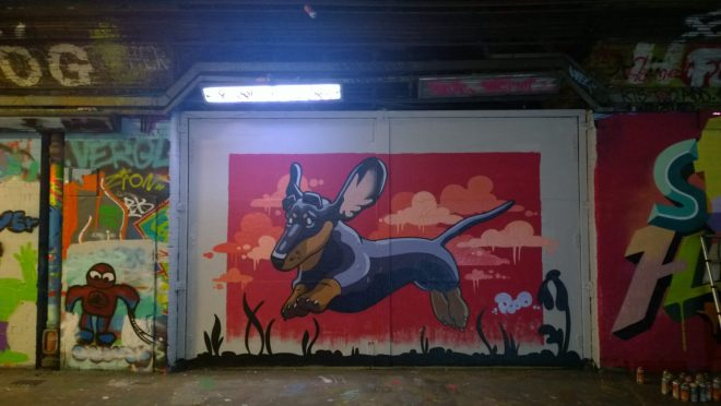 The always hugely popular Roo painted a sausage dog