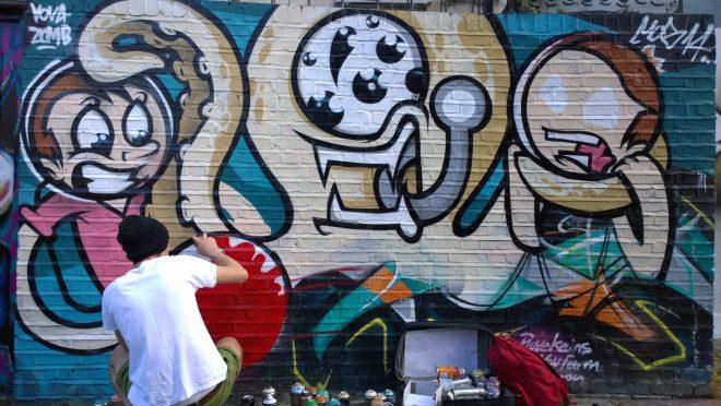 Vova Zomb painting on Pedley street