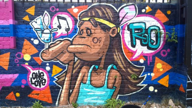 Roo drew this prior to the Meeting of Styles but it remained during the event