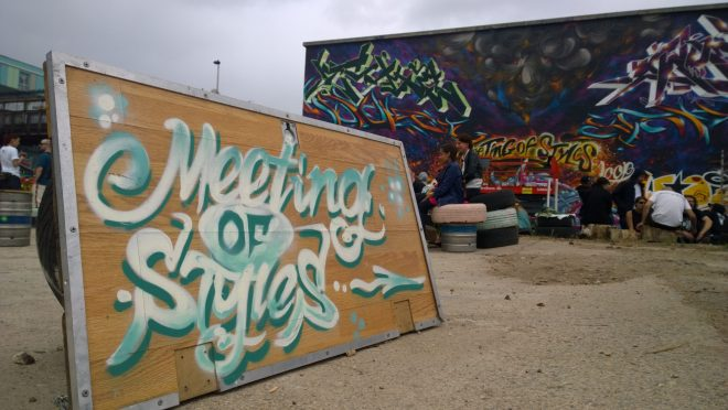 The Meeting of Styles this year took place in the newly formed Nomadic Community Gardens