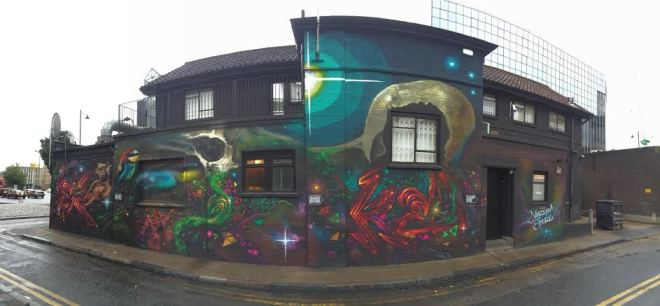 Spore and Macism combined to paint this near the Old Kent Road