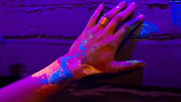 Luminous hand painting
