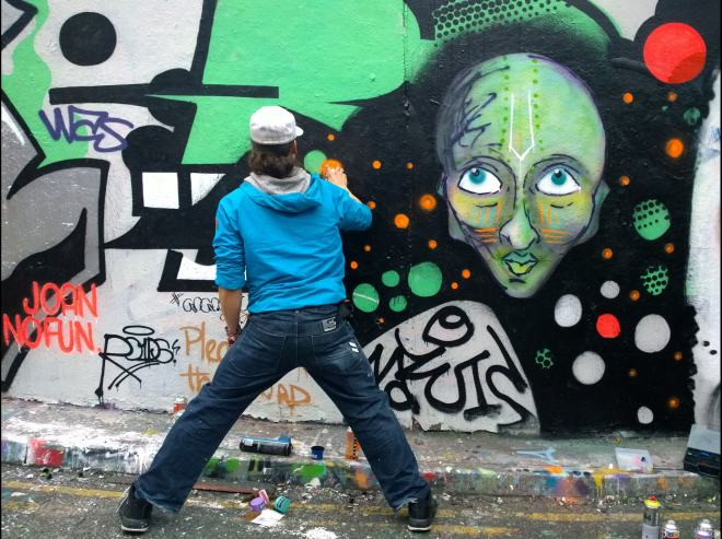 The prolific Jarvis painting in the tunnel