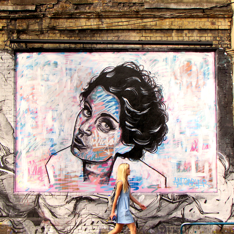 Ant Carver street art in Shoreditch. Read his interview on Inspiring City