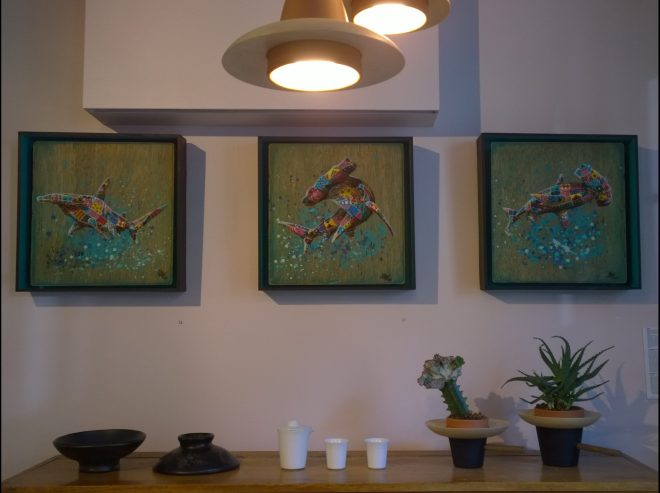Louis Masai art framed with ethical furniture
