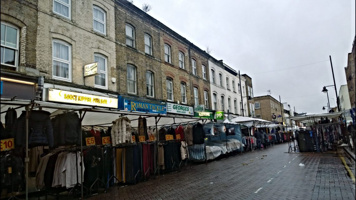 The Roman Road market still going strong.  The Women's Dreadnought would have been sold here