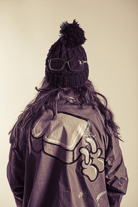 Portrait of Artista a street artist from London