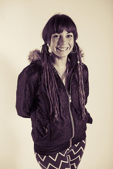Portrait of street artist Pixie
