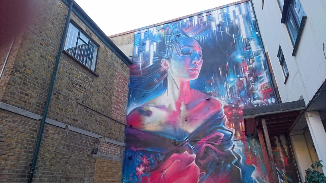 Dan Kitchener mural on Brick Lane. He is one of our best British street artists