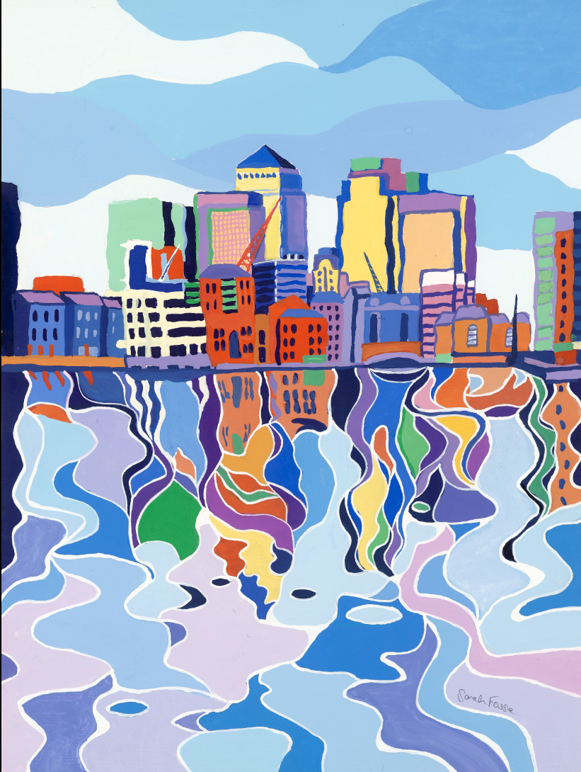 Canary Wharf Painting by Artist Sarah Fosse