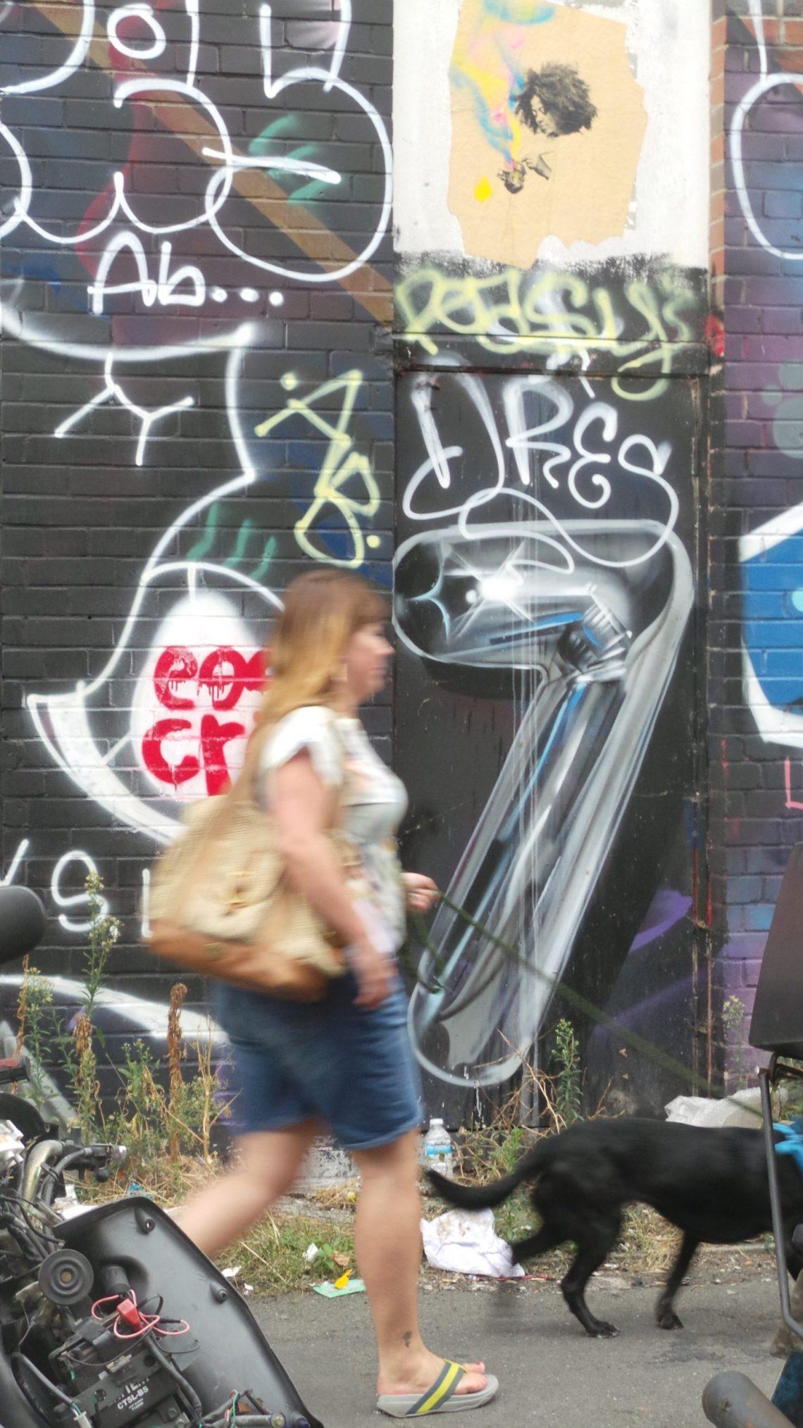 Street art by Fanakapan on Clare Street in Bethnal Green