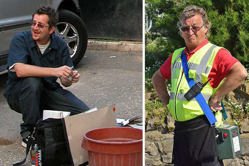 robin gunnigham and a car park attendant