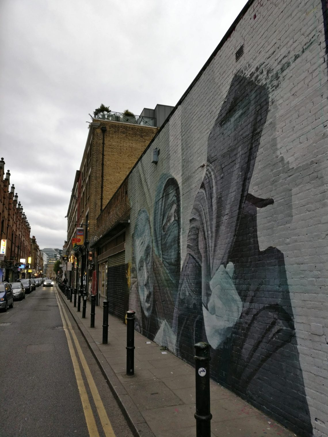 wasp elder mural on hanbury street in London