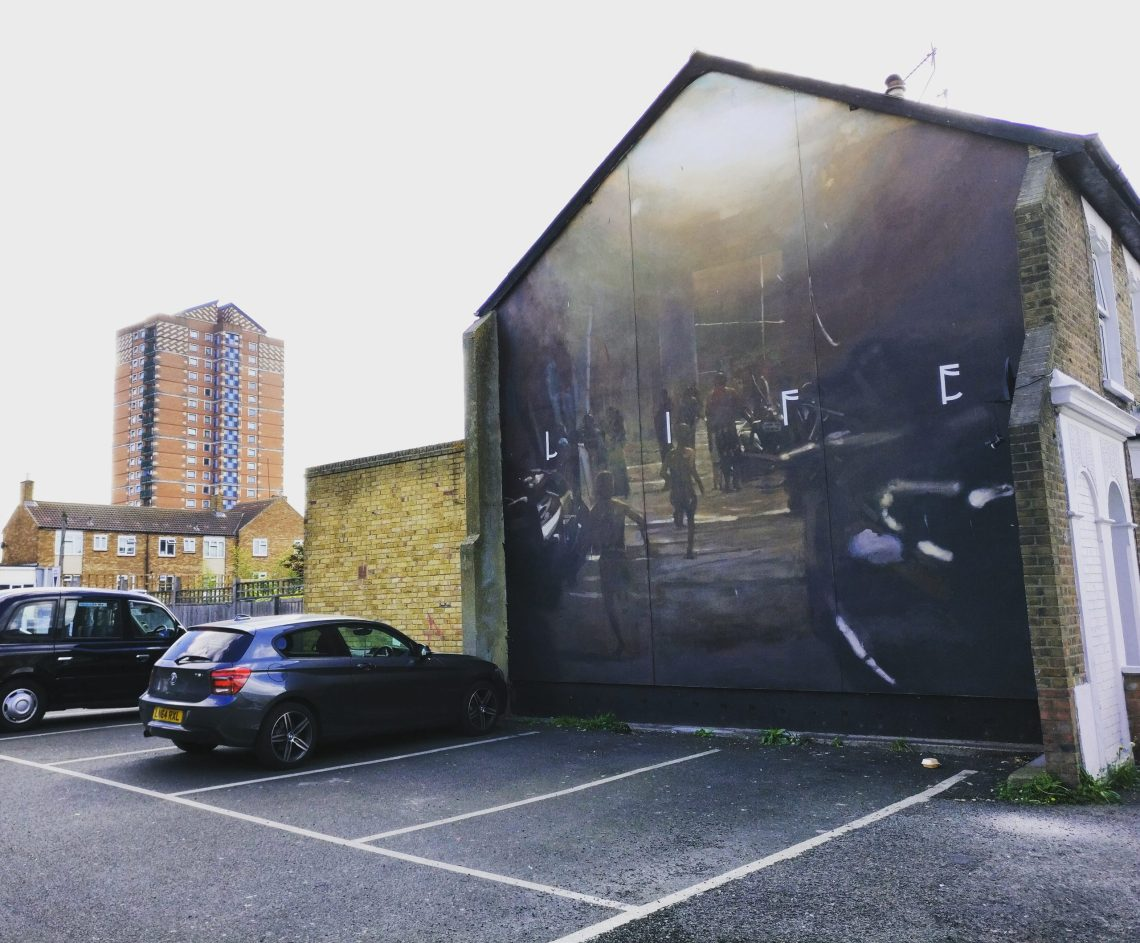 street art by axel void on wood street in walthamstow
