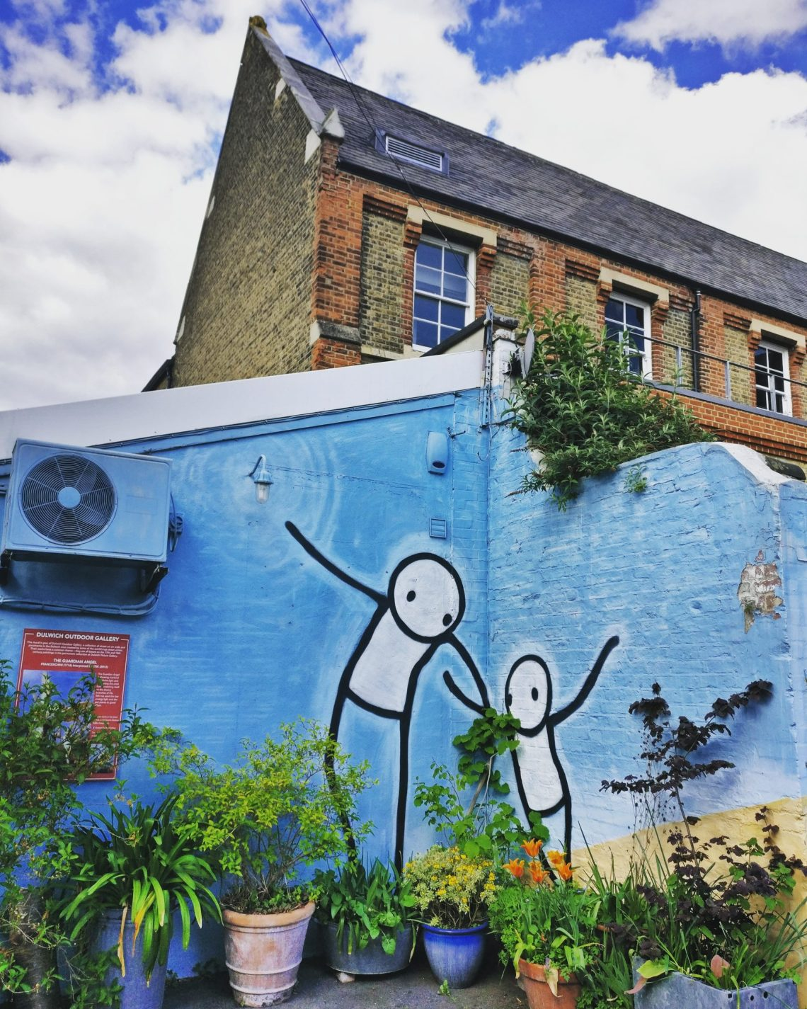 A Mural by Stik created as part of the Dulwich Outdoor Gallery which Ingrid Beazley curated