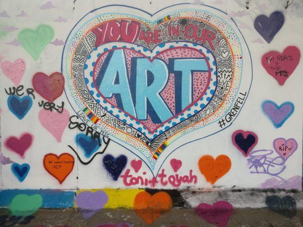 graffiti tribute grenfell tower