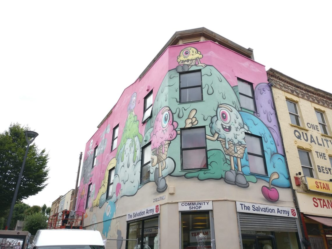 Buff Monster mural in Bristol for Upfest 2017