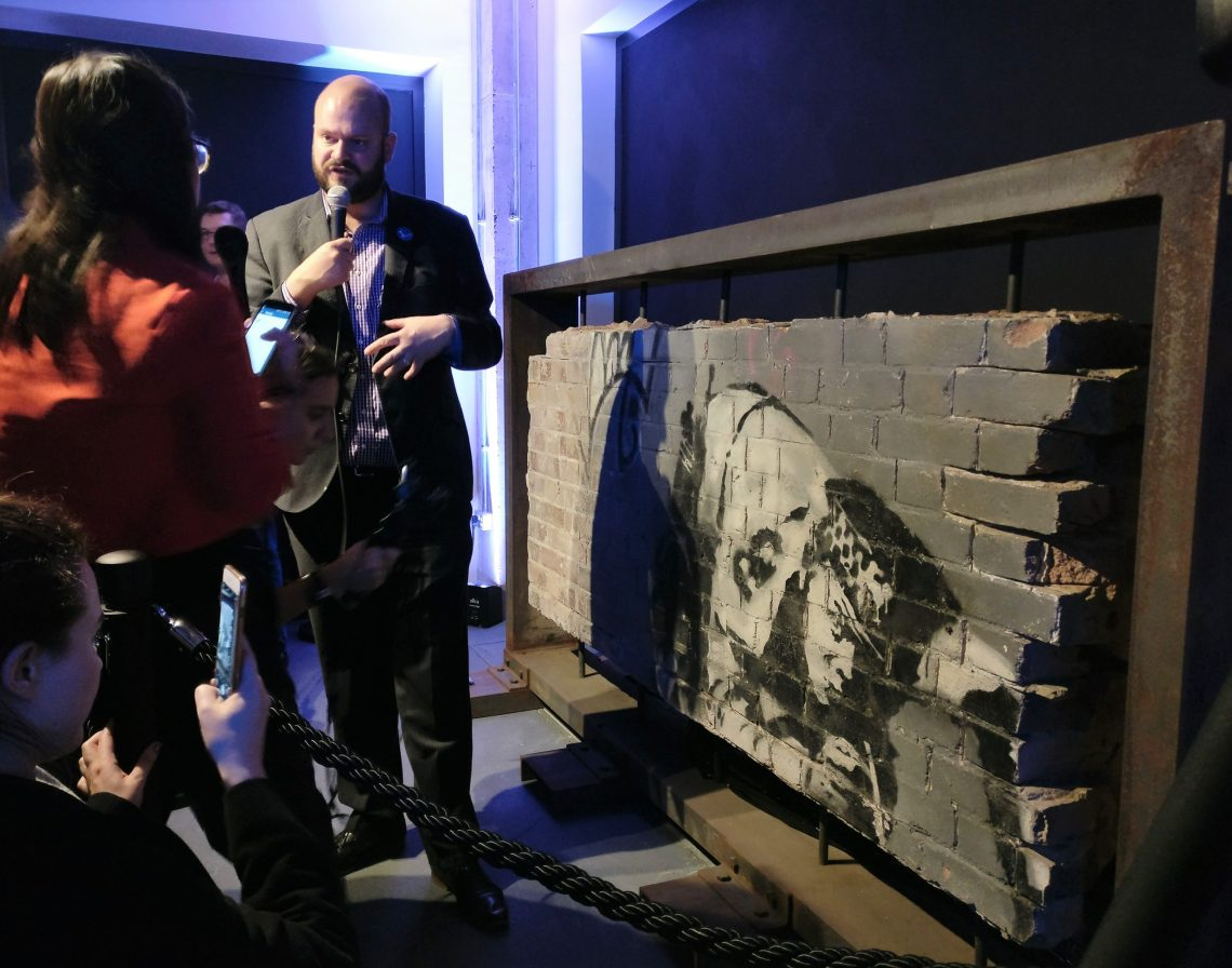 The Snorting Copper by Banksy rediscovered and put on display