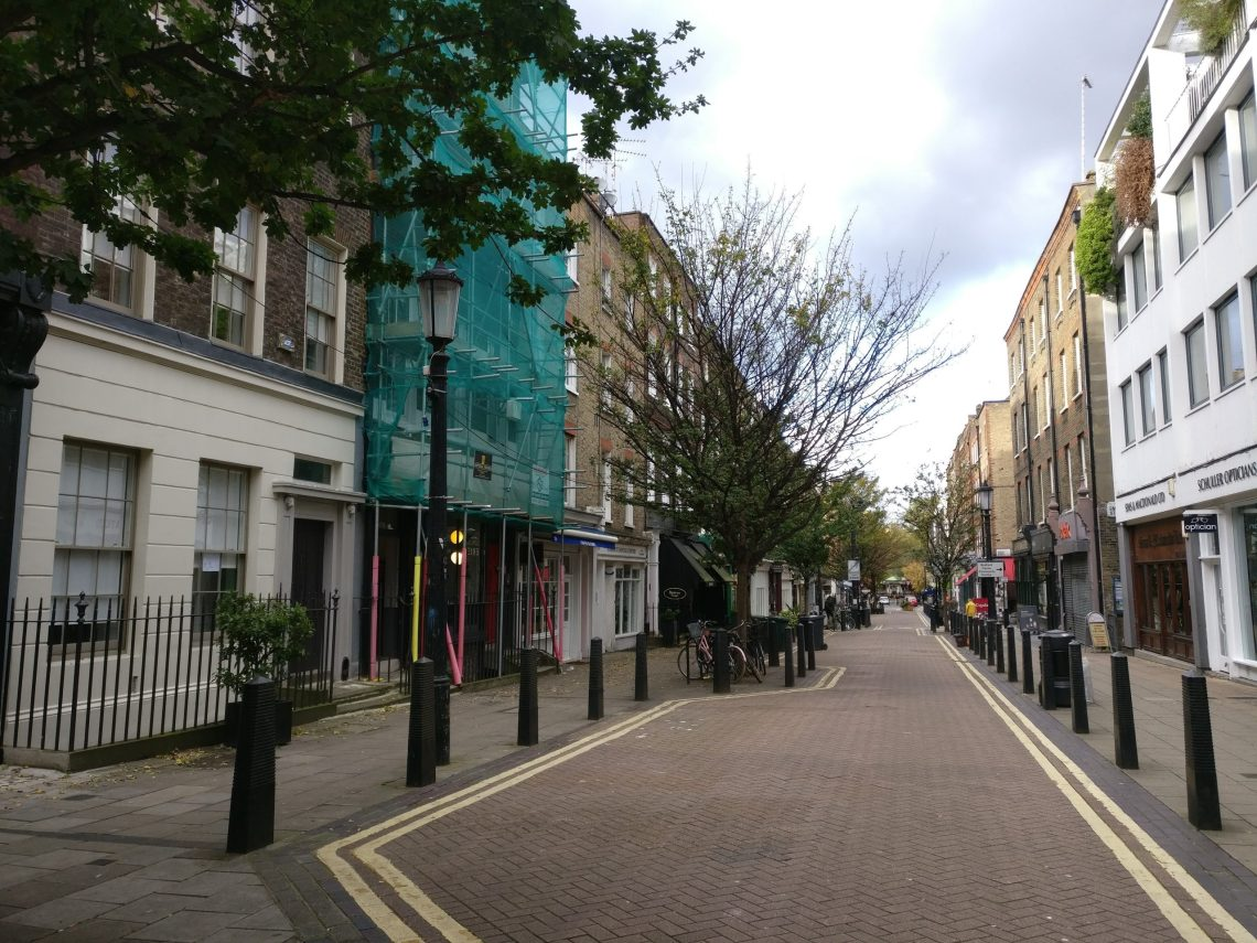 Lamb's Conduit Street. Part of our walking tour of Holborn and Bloomsbury
